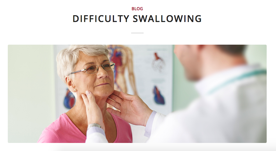 difficulty swallowing disorders